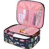 Large Makeup Bag with Brush Holder Travel Cosmetic Bag Makeup Case Deal