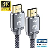 HDMI Cable 6.6feet(2m), 4K HDMI Lead-Snowkids Ultra High Speed 18Gbps HDMI 2.0 Cable 4K@60Hz Compatible Fire TV, 3D Support, Ethernet Function, Video 4K UHD 2160p, HD 1080p, 3D - Xbox PlayStation PS3 PS4 Netfilx Samsung ect