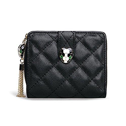 KYOKIM Fashion Lady Sac à Main Multifonction Mini Petit Portefeuille Black