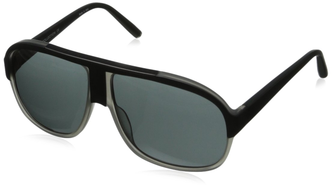 BMW B6502 Modern Plastic Aviator Sunglasses,Matte Black & Matte Grey60 mm by BMW