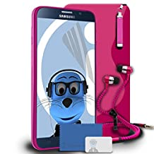 iTALKonline Samsung Galaxy Note 5 Pink TPU S Line Wave Hybrid Gel Skin Case Protective Jelly Cover with 3 Layer LCD Screen Protector, Re-tractable Mini Stylus Pen and 3.5mm ZIP Stereo Hands Free HeadPhones with Mic