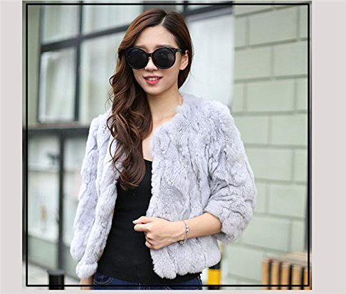 Generic True_ rabbit fur _grass_Rex_ Korean winter warm thick fur coat fur _grass_ Women