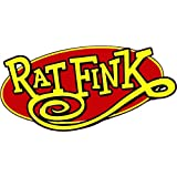 "Rat Fink Oval Decal is 5"" x 3"" in size in the United States"