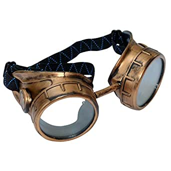 Steampunk Victorian Goggles Glasses D gold clear