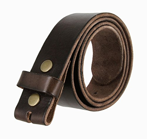 - BS-40 100% Full Grain Leather Replacement Belt Strap with Snaps 1 1/2