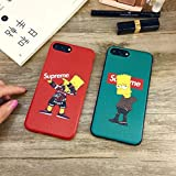 Supremely Cartoon Boy Case Bart Simpson iPhone Case for iPhone X XS MAX XR 10 8 7 6 6S Plus (Green, for iPhone 6 6s)