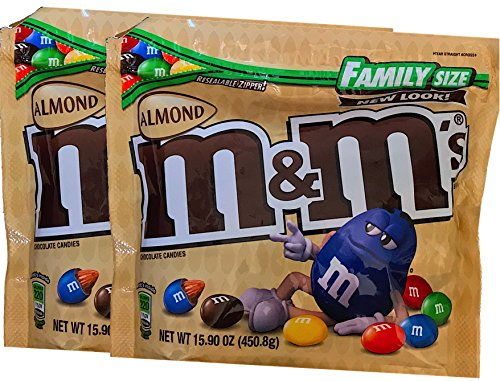 M&Ms Limited Edition Strawberry Nut / M&Ms Almond Resealable Zipper Family Size (Almond, -
