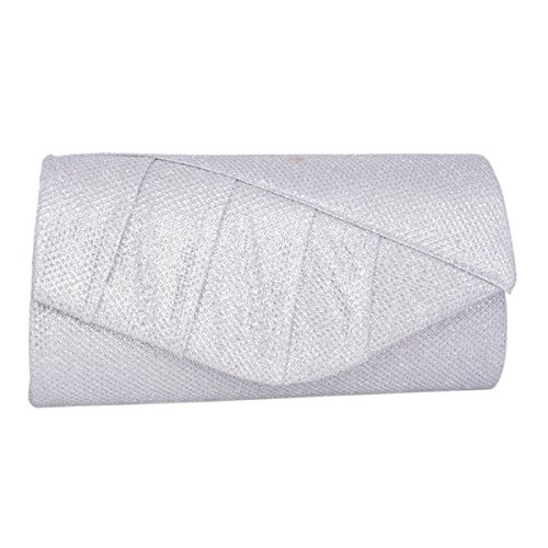 Glitter Adoptfade Envelope Womens Evening Clutch Vintage Silver Bag wz74wq