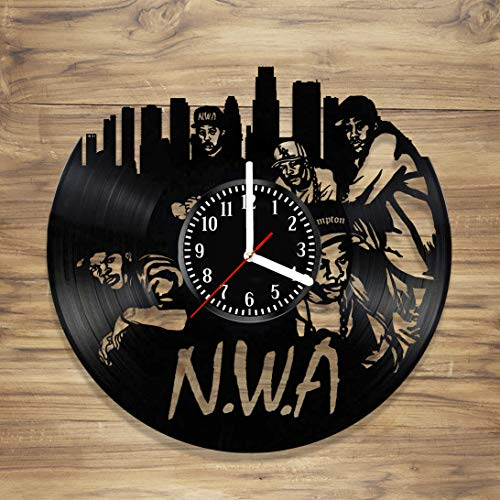 - DecorArt Studio N.W.A Vinyl Record Wall Clock Hip Hop Gansta Rap Prince Dr. Dre Eazy-E Ice Cube Music Home Style Unique Gift idea for Him Her (12 inches)