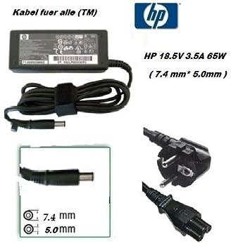 Para 18,5 V 3,5 A adaptador HP G62 584037-001 desbandándose ...