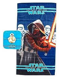 Star Wars Ep7 Classic 2 Piece Cotton Bath/Wash Towel Set