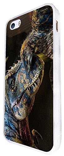 1053 - Cool Fun Dinosaur Art T-Rex Triceratops Stegosaurus Spinosaurus (1) Design iphone SE - 2016 Coque Fashion Trend Case Coque Protection Cover plastique et métal - Blanc