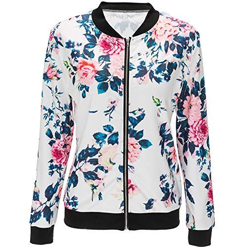 Autunno Cappotto Coat Donna Stampa E Lunga Rosso Casual Giacche Giacca Moda Manica Jacket Tops Blouse Bomber Primavera Corto 5azBSRqR