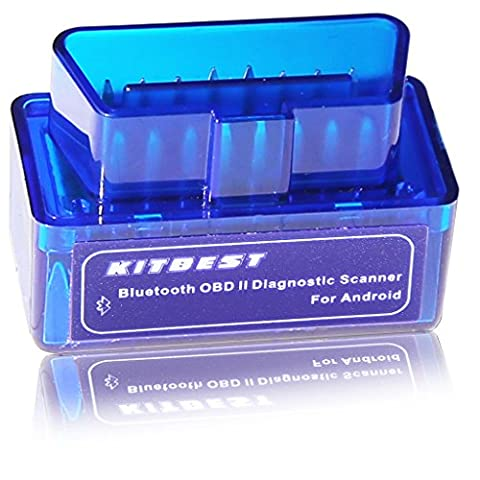 KitBest Mini Bluetooth OBD Scan Tool OBD2 OBDII Scanner Adapter Automotive Check Engine Light Diagnostic Trouble Code Reader for Android - Check Cable Analyzer