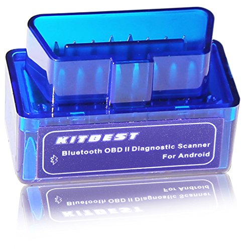 Kitbest Bluetooth OBD OBD2 Scanner Adapter for Android, Car Diagnostic Check Engine Light Scan Tool Code Reader....