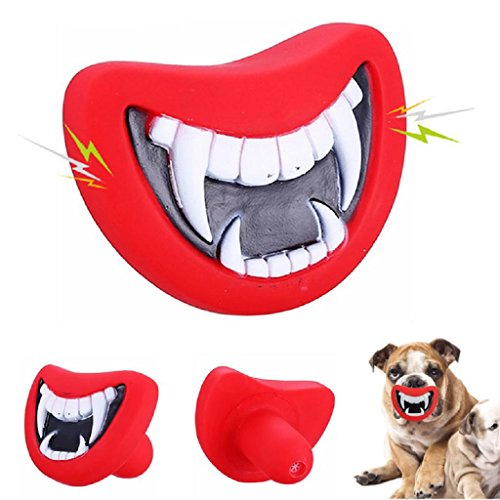 Forgun Pet Dog Puppy Giggle Treat Training Chew Sound Activity Toy Squeaky Chew -