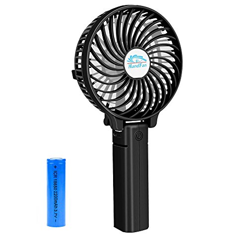 Cillbi Small Rechargeable Handheld Fan Battery Operated Mini Foldable USB Personal Portable Table Fan, 3 Speeds by Cillbi