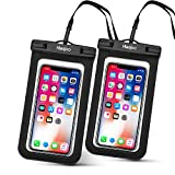 Hianjoo Waterproof Case [2 Pack], IPX8 Underwater 30M Waterproof Phone Pouch Dry Bag with Lanyard for iPhone XS Max/XR/8 Plus, Samsung S10 Plus/S9,Huawei P30 Pro/P30 Lite/Mate 20 Pro up to 6.5''