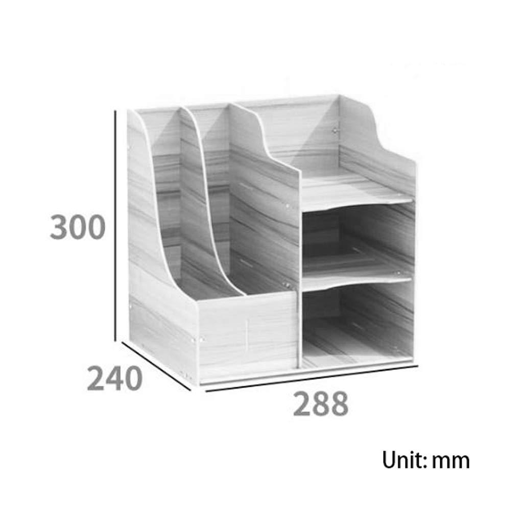 Dateiracks Aktenordner Einfaches Bücherregal Bücherregal Bücherregal Mehrlagiger Ordner Aufbewahrungsbox Schubladenbox (Farbe   A) B07PFZNZVZ | Feine Verarbeitung  97698a