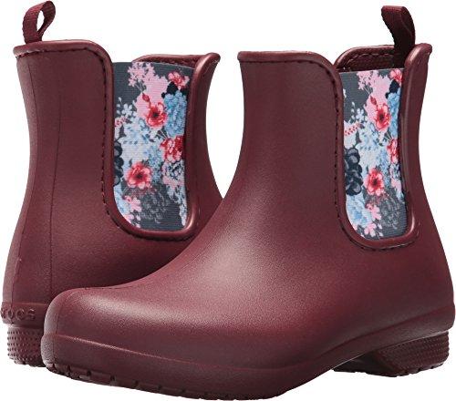Crocs Women's Freesail Chelsea Boot W Rain, Garnet, 5 M US