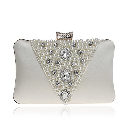 Rhinestones KYS For Beaded Luxurious Bags Purse Wedding Evening beige Embroidery Women Design Clutches V Handbags qHBqCw1