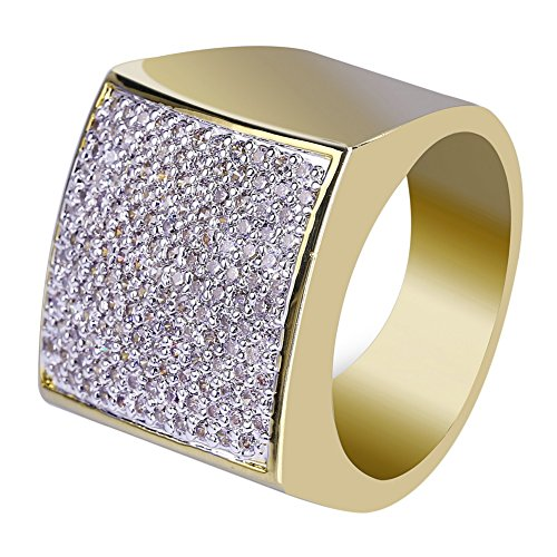 iced out gold ring - 4