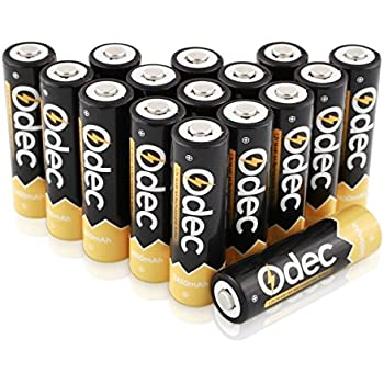 Aaa Battery Promo Code >> Amazon.com: Odec AA Rechargeable Batteries, 2450mAh Ni-MH Double A Batteries High Capacity 1200 ...