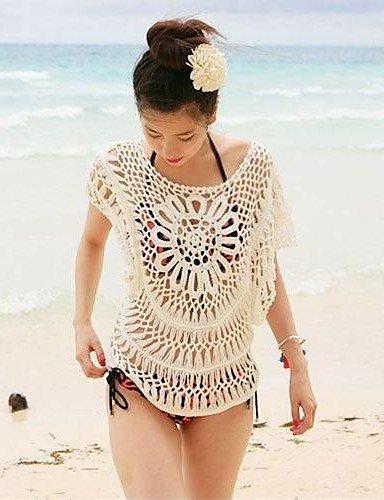 skt-swimwear Damen zudecken, massiv Baumwollgemisch weiß