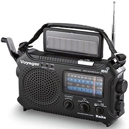 side facing kaito ka500 emergency AM/FM/SW solar powered radio
