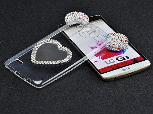 Funda Doble para LG G4, Vandot Bling Brillo Carcasa Protectora 360 Grados Full Body | TPU en Transparente Ultra Slim Case Cover | Protección Completa Delantera y Trasera Cocha Smartphone Móvil Accesor AXJZ 05