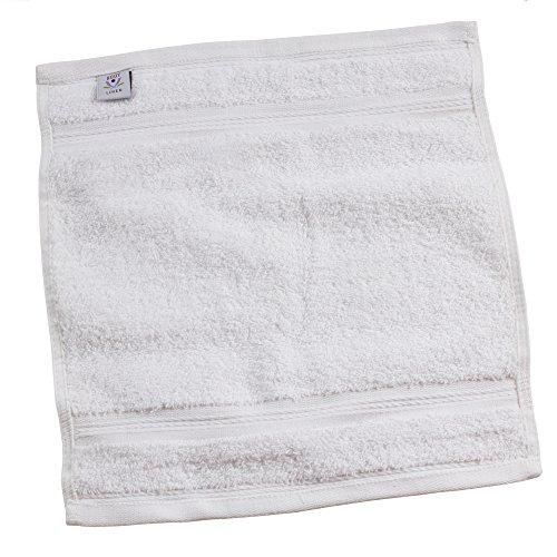 (Affinity Ring Spun Cotton Facial Wash Cloths- 6 Pack (White))