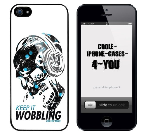 Iphone 5 Case Keep it Wobbling Dub Step Music Rahmen schwarz
