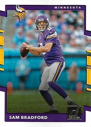 official photos 7775a b9c79 2017 Donruss #68 Sam Bradford Minnesota Vikings Football Card