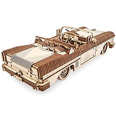 Dream Cabriolet VM-05 Mechanical Model Kit, Wooden 3D Car Puzzle for Self Assembling, Best Men Gift by Ugears: Toys & Games
