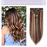 Best Human Hair Extensions - s-noilite Clip in Human Hair Extensions 100% Real Review