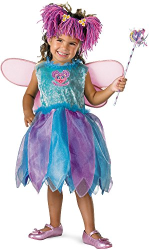 Disguise Baby Girl's Sesame Street Abby Cadabby Deluxe Costume, Blue/Purple, 12-18 Months -