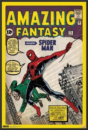 SpiderMan - Comic Cover Amazing Fantasy 24x36 Framed Poster