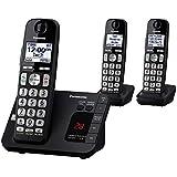 Panasonic KX-TGE433B teléfono inalámbrico con máquina contestadora - 3teléfonos, Tres teléfonos - KX-TGE433B, Negro