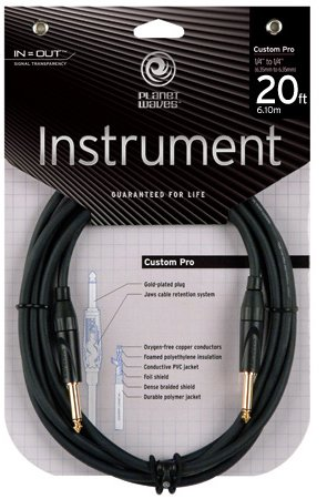 Planet Waves Custom Pro Series Instrument Cable, 20 feet