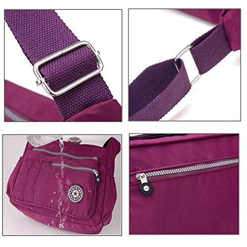 Ladies Womens Nylon Travistar Waterproof Shoulder Rose Messenger Handbag Bag bags crossbody Bag Casual nq0CHfE5Cw