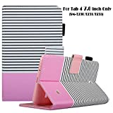 7 inc tablet cover - Galaxy tab 4 7.0 Case, Dteck Slim Lightweight Cute Design PU Leather Flip Stand Case with Card Slots Protective Case for Tab 4 7.0