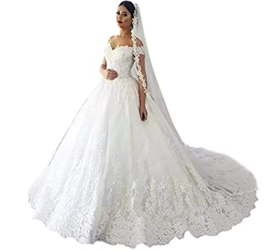 7d3ef9e6 Andybridal High Low Organza Appliqued Lace Bridal Gowns Wedding Dresses For  Girls