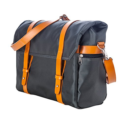 Walco City Chic Messenger Bag (W0376-Gy), Grey/Orange by Walco
