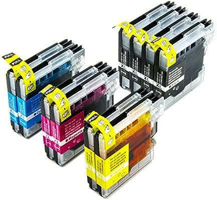 Nanologic LC980 LC1100 Cartuchos de Tinta Compatible para Brother DCP-145C DCP-165C DCP-195C DCP-197C DCP-375CW DCP-385C DCP-585CW MFC-6690CW MFC-250C ...