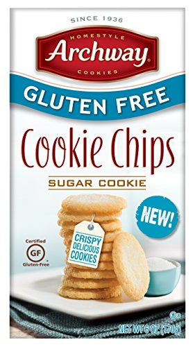 Archway Cookies, Gluten Free Cookie Chips, Sugar Cookie, 6 Ounce Box ()