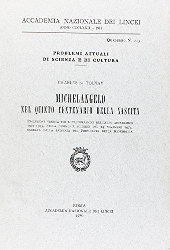 Michelangelo nel V Centenario della nascita