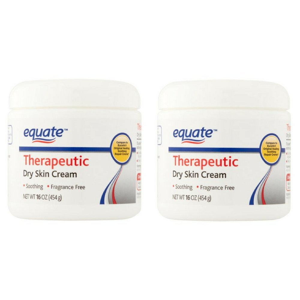 Equate Therapeutic Dry Skin Cream, 16 oz - Pack of 2