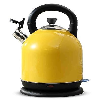 EVI Acier Inoxydable électrique Kettlelarge Capacité Théière Maison Entièrement Automatique Bouilloire1.8 litres Jaune (Taille: 310 * 230Mm) Bouilloires Électriques