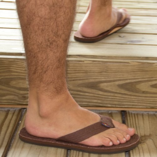 f90df66e08520 Rainbow Sandals Men's Hemp Single Layer Wide Strap with Arch