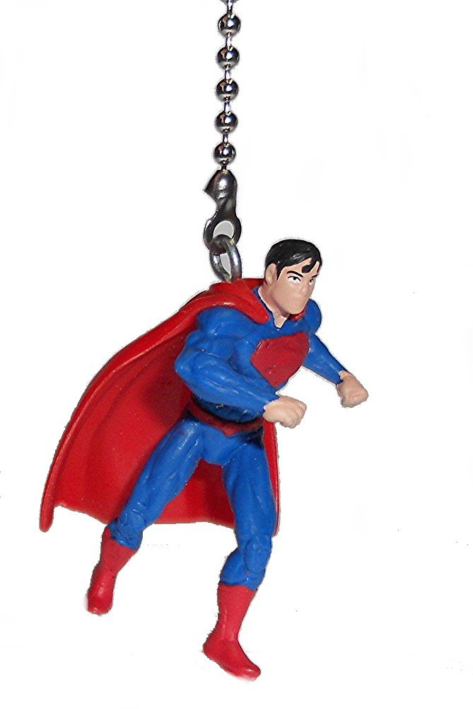 DC comics SUPER HERO superhero character vinyl Ceiling FAN PULL light chain (Superman) by Knight